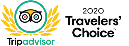 Badge Travelers' choice di Trip Advisor per Mokambo Gelateria Artigianale